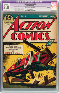 Action Comics #9 (DC, 1939) CGC Apparent GD/VG 3.0 Moderate (A) Cream to off-white pages