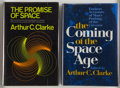 Books:Science Fiction & Fantasy, Arthur C. Clarke. Two Signed First Editions about Space, including: The Coming of the Space Age. New York: Meredith ... (Total: 2 Items)