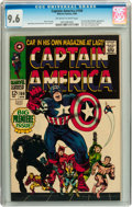 Silver Age (1956-1969):Superhero, Captain America #100 (Marvel, 1968) CGC NM+ 9.6 Off-white to whitepages....