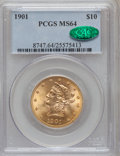 Liberty Eagles, 1901 $10 MS64 PCGS. CAC....