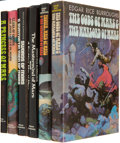 Books:Science Fiction & Fantasy, Edgar Rice Burroughs. A Princess of Mars; Llana of Gathol and John Carter of Mars; Swords of Mars & Synt... (Total: 6 Items)