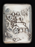 Silver Smalls:Match Safes, A BLACKINTON SILVER MATCH SAFE . R. Blackinton & Co., NorthAttleboro, Massachusetts, circa 1900. Marks: (B with sword),S...