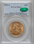 Liberty Eagles, 1879-S $10 MS61 PCGS. CAC....