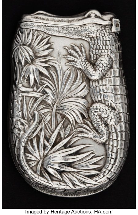 A SHIEBLER SILVER AND SILVER GILT MATCH SAFE  George W. Shiebler & Co., New York, New York, circa 1900Marks: (winged S),...