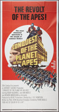 """Movie Posters:Science Fiction, Conquest of the Planet of the Apes (20th Century Fox, 1972). Three Sheet (41"""" X 81""""). Science Fiction.. ..."""