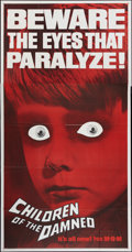"""Movie Posters:Science Fiction, Children of the Damned (MGM, 1963). Three Sheet (41"""" X 81"""").Science Fiction.. ..."""