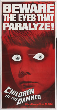 """Children of the Damned (MGM, 1963). Three Sheet (41"""" X 81""""). Science Fiction"""