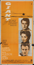 "Movie Posters:Drama, Giant (Warner Brothers, R-1966). Three Sheet (41"" X 81""). Drama.. ..."