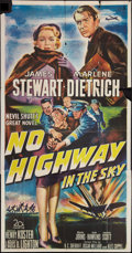 "Movie Posters:Drama, No Highway in the Sky (20th Century Fox, 1951). Three Sheet (41"" X81""). Drama.. ..."