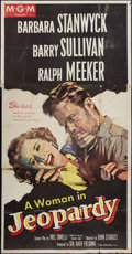 """Movie Posters:Thriller, Jeopardy (MGM, 1953). Three Sheet (41"""" X 81""""). Thriller.. ..."""