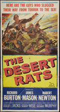 "Movie Posters:War, The Desert Rats (20th Century Fox, 1953). Three Sheet (41"" X 81"").War.. ..."