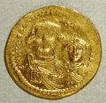 Ancients:Byzantine, Ancients: Heraclius. A.D. 610-641. AV solidus (21 mm, 4.45 g).Constantinople, ca. A.D. 616-625. Crowned facing busts of Heracliusand...