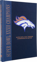 Football Collectibles:Others, John Elway Signed Super Bowl XXXII Commemorative Edition Program. Here we offer a hard-bound commemorative edition of the pr...