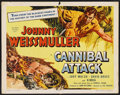 "Movie Posters:Adventure, Cannibal Attack (Columbia, 1954). Half Sheet (22"" X 28"").Adventure. ..."