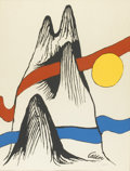 Prints:American, ALEXANDER CALDER (American, 1898-1976). Abstract Landscape,circa 1970. Color lithograph, ed. 146/375. 24in. x 18in.. In...(Total: 1 Item)