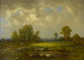 Fine Art - Painting, European:Antique  (Pre 1900), CONTINENTAL SCHOOL (Late Nineteenth/Early Twentieth Century).Landscape. Oil on canvas. 15in. x 21in.. Signed at lowerl... (Total: 1 Item)