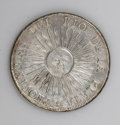 Argentina: , Argentina: Republic 8 Reales 1813-J PTS, KM5, VF-XF, lightly poroussurfaces, excellent sunface details....
