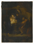 Fine Art - Painting, European:Antique  (Pre 1900), S. MAZZOLINI (Italian, Nineteenth Century). The Holy Family.Oil on canvas. 22in. x 17in.. Signed at lower center S. M...(Total: 1 Item)