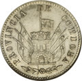 Argentina: , Argentina: Cordoba. 4 Reales 1852, KM31, AU58 NGC, a well-struckexample with abundant mint luster. The sunface shows some wear, butis...