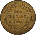 "Argentina: , Argentina: Patagonia. 2 Centavos 1874 Copper Pattern, VG-3859,choice brilliant UNC, struck for ""Nouvelle France"" at the ParisMint. Sc..."