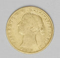Australia: , Australia: Victoria gold 1/2 Sovereign 1858, KM3, VG-F, evenly wornwith no obvious defects....