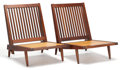Furniture : American, FROM THE ESTATE OF EVA SHURE. PAIR OF GEORGE NAKASHIMA (AMERICAN,1905-1990) WALNUT ARMLESS CHAIRS WITH UPHOLSTERED SEAT AND...(Total: 2 Items)
