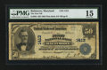 National Bank Notes:Maryland, Baltimore, MD - $50 1902 Plain Back Fr. 682 The First NB Ch. #1413. ...