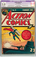 Golden Age (1938-1955):Superhero, Action Comics #21 (DC, 1940) CGC Apparent GD/VG 3.0 Slight (A) Cream to off-white pages....