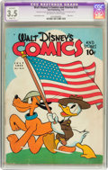 Golden Age (1938-1955):Cartoon Character, Walt Disney's Comics and Stories #22 (Dell, 1942) CGC Apparent VG-3.5 Slight (P) Off-white to white pages....