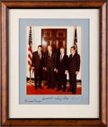 Autographs:U.S. Presidents, Reagan, Ford, Carter and Nixon Signed Photograph ...