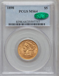Liberty Half Eagles, 1898 $5 MS64 PCGS. CAC....