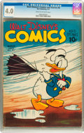 Golden Age (1938-1955):Cartoon Character, Walt Disney's Comics and Stories #6 (Dell, 1941) CGC VG 4.0 Creamto off-white pages....