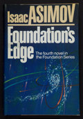 Books:Science Fiction & Fantasy, Isaac Asimov. Foundation's Edge. Garden City, New York:Doubleday & Company, Inc., 1982. First trade edition. Sign...