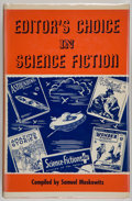 Books:Science Fiction & Fantasy, Sam Moskowitz, compiler. Editor's Choice in Science Fiction. New York: The McBride Company, [1954]. First editio...