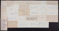 Baseball Collectibles:Others, Baseball Greats Signed Index Cards Lot of 34....