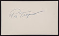 Baseball Collectibles:Others, Pie Traynor Signed Index Card. ...