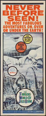"""The Fabulous World of Jules Verne (Warner Brothers, 1961). Insert (14"""" X 36""""). Fantasy"""