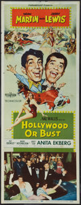 """Movie Posters:Comedy, Hollywood or Bust (Paramount, 1956). Insert (14"""" X 36""""). Comedy.. ..."""