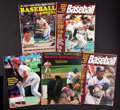 Baseball Collectibles:Publications, Baseball Greats Signed Magazines Lot of 5....