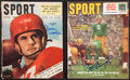 """Football Collectibles:Publications, Paul Hornung and Doak Walker Signed """"SPORT"""" Magazines Lot of 2...."""