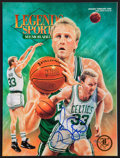 Basketball Collectibles:Publications, Larry Bird Signed Magazine....