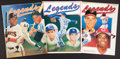 Baseball Collectibles:Publications, Baseball Legends Signed Magazines Lot of 3....