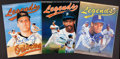 Baseball Collectibles:Publications, Cecil Fielder, Ken Griffey Jr. and Cal Ripken Jr. Signed MagazinesLot of 2....