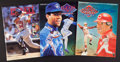 Baseball Collectibles:Others, Roberto Alomar, Kirby Puckett and Pete Rose Signed Magazines Lot of3....