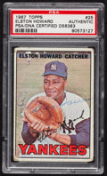 Autographs:Sports Cards, Signed 1967 Topps Elston Howard #25 PSA/DNA Authentic. ...