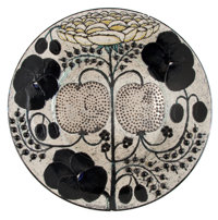 FROM THE ESTATE OF EVA SHURE  BIRGER KAIPIAINEN (FINNISH, 1915-1988) CERAMIC CHARGER FOR ARABIA Circa 1960