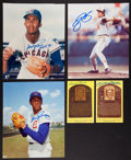 Baseball Collectibles:Others, Hall of Famers Signed Memorabilia Lot of 5....