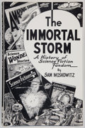 Books:Science Fiction & Fantasy, Sam Moskowitz. The Immortal Storm. Atlanta: The AtlantaScience Fiction Organization Press, 1954. First edition....
