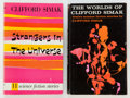 Books:Science Fiction & Fantasy, Clifford D. Simak. Two Signed Story Collections, including:Strangers in the Universe; The Worlds of Cli... (Total: 2Items)