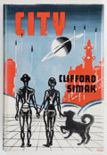 Books:Science Fiction & Fantasy, Clifford D. Simak. City. London: Weidenfeld & Nicolson, [1954]. First British edition. Small octavo. 248 pages. ...